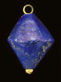 A large Sumerian lapis lazuli bead, c. 2500 BC, image ex Christie's (but via an intermediary).