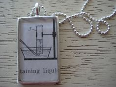 Collecting Gas Over Water Vintage Chemistry by LeftBrainRightBrain, $22.00