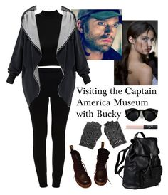 Visiting the Captain America Museum with Bucky by vampirliebling on Polyvore featuring VILA, Dr. Martens, Doucal's, NARS Cosmetics, marvel, comics, CaptainAmerica, museum and wintersoldier