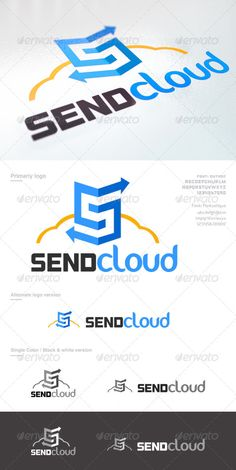 Here are a logo for any purpose around IT business. But especially for new services on the cloud. Its easy to edit and change colo Typography Logo, Logo Branding, S Letter Logo, Thanksgiving Wallpaper, Technology Logo, Logo Templates, Color Change, Purpose, Logo Design