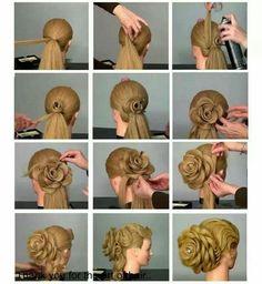 Роза из волос