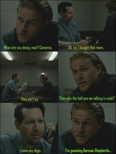 That time when Marilyn Manson missed his dogs. ♥ Tully & Jax, Sons of Anarchy