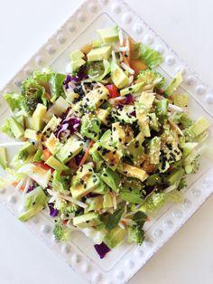 rainbow avocado salad