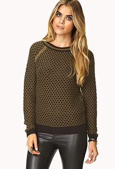 {standout contrast sweater - forever21/Love21}