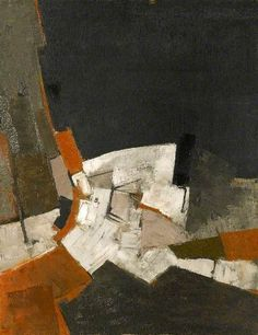 Composition, Black and Grey Adrian Heath