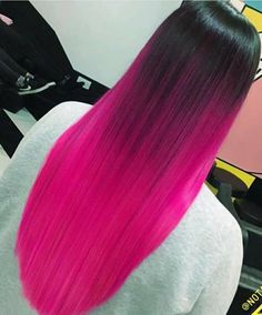 75 Beautiful Hot Pink Hair Color Ideas to Makes You Looks Stunning - Aksahin Jewelry Pink Ombre Hair, Hot Pink Hair, Hair Color Pink, Hair Dye Colors, Vivid Hair Color, Magenta Hair, Neon Hair, Pretty Hair Color, Beautiful Hair Color