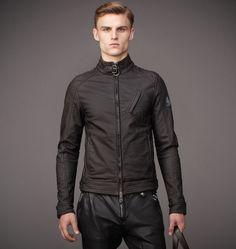 Jacket|Mens Rubberized Jersey H Racer Jacket|Belstaff