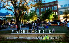 Market Street in Town Center in The Woodlands Texas Downtown District