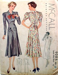 1930s vintage sewing pattern by wondertrading, via Flickr