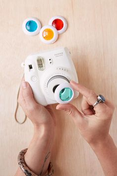 Shop Fujifilm Instax Lens Filter Set at Urban Outfitters today. Instax Mini 8 Camera, Fujifilm Instax Mini 8, Instax 8, Modern Photography, Artistic Photography, Photography Ideas, Urban Outfitters, Iphone Lens, Polaroid Pictures