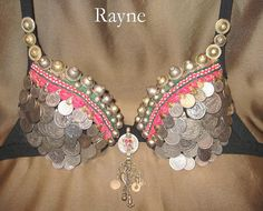 Coin bra from Nhazama Tribal Designs.