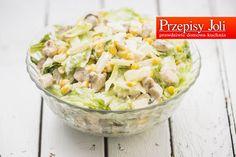 SAŁATKA KALIFORNIJSKA - pyszna, szybka i łatwa w przygotowaniu sałatka. Świetnie sprawdzi się na stole jako samodzielne danie. California Salad Recipe, Salad Recipes, Potato Salad, Curry, Yummy Food, Lunch, Meals, Dinner, Cooking