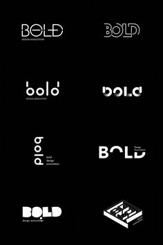 logo proposals for Bold Design on BehanceYou can find Logo design inspiration and more on our website.logo proposals for Bold Design on Behance Design Brochure, Branding Design, Logo Branding, Brand Identity Design, Font Logo Design, Logo Design Trends, Corporate Branding, Typographie Inspiration, Inspiration Logo Design