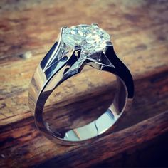 3ct engagement ring in 14k white gold #lovefits