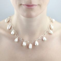 Freshwater Cultured Pearls - White Baroque Necklace