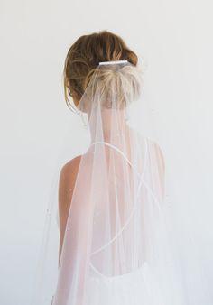 MARGAUX crystal chapel wedding veil 1
