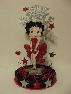 Adult Birthday Party, Birthday Party Decorations, Happy Birthday, Masquerade Centerpieces, Balloon Centerpieces, Wedding Centerpieces, Adult Crafts, Diy And Crafts, Betty Boop Birthday