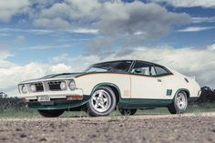 1975 Ford XB Coupe 'John Goss Special' - produced by Ford Australia - the exact numbers produced in the accent green or blue on white is unknown, but it is believed the first run of 400 cars quickly sold out and a second run was instituted, so final numbers could have been as high as 800.