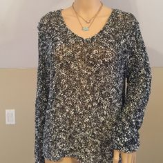 Chicos open knit sweater(size med) Very good condition, chicos size 2 which is a medium Chico's Sweaters V-Necks