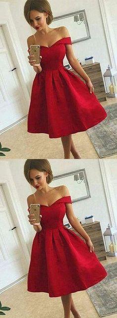 Off the Shoulder Simpe Short Homecoming Dress,Graduation Dresses,Dance Dress Sweet 16 Dress SW081
