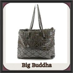 "NWT! Big Buddha XL gray Zip Top tote in packaging Gorgeous XL , DETAILED , zip top closure, new in the manufacturer's plastic, perfect for all seasons!  This bag is approximately 16 inches long 14 inches tall / height , double straps with 10 "" approx. drop, zip closure, depth is approximately off the top of my head 5 inches! Though of course that will extend, very strong and sturdy super stylish! It would look perfect with that beautiful pair of boots, jean's winter coat, Long sweater…"