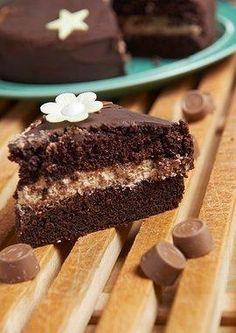 Sjokoladekake med fyll av Centersjokolade