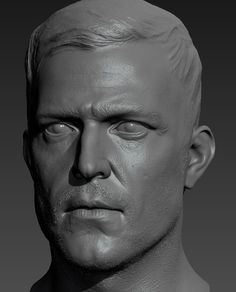ArtStation - Male Head Sculpt and SSS Study, Peter Zoppi