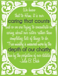 Julie Beck quote from General Relief Society Meeting 2011