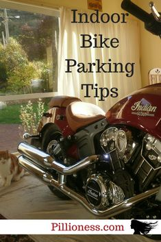 Of course you should park your motorcycle in the house! It's a work of art! Motorcycle Tips, Motorcycle Style, Cool Motorcycles, Triumph Motorcycles, Dirt Bike Girl, Indian Scout, Bike Parking, Dirtbikes, Biker Chick
