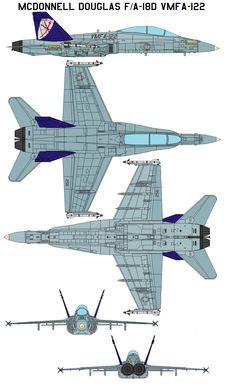 FA-18D VMFA-122 by bagera3005 on DeviantArt