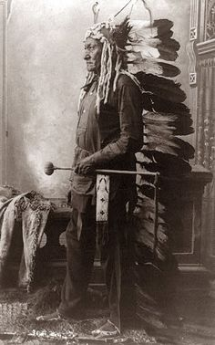 picture of Sitting Bull. I like this one because most of the pictures of him are straight on, and this one is more of a profile shot. The picture was taken in 1888.