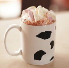 cow print coffee mugs! :)