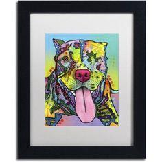 Trademark Fine Art Rooster Canvas Art by Dean Russo, White Matte, Black Frame, Size: 16 x 20