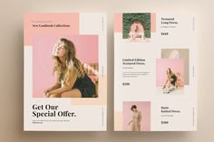 Fashion Flyer Template by micromove on Envato Elements Graphic Design Flyer, Creative Flyer Design, Creative Flyers, Flyer Design Templates, Flyer Template, Resume Design, Web Design, Ad Layout, Flyer Layout