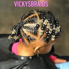 Little Girls Natural Hairstyles, Toddler Braided Hairstyles, Cute Little Girl Hairstyles, Black Kids Hairstyles, Little Girl Braids, Baby Girl Hairstyles, Braids For Kids, Kid Braids, Tree Braids