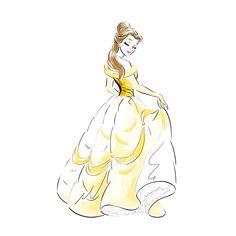 Belle Beauty and the beast Disney Princess Drawings, Disney Princess Art, Disney Sketches, Disney Drawings, Bella Disney, Disney Belle, Disney Pocahontas, Disney Paintings, Disney Artwork