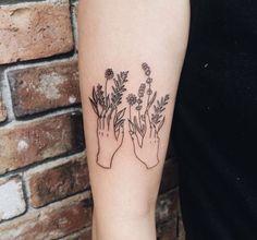 #tattoos #hands #flowers