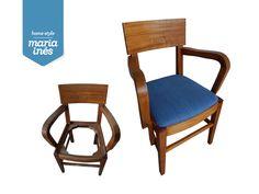 Uma cadeira de época mesmo gira, que precisa de uma lavagem de cara e não só. A aplicação de ganga no tampo, concedeu-lhe um look mais cool, ideal para um quarto de rapaz 🌈!