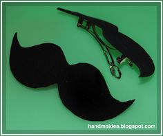 Moustache Hair Clip (Brooch Accessory) from the craft blog Cut Out + Keep