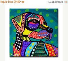 50 % de réduction Storewide-LAB ART cadeau Pop Art Céramique carreaux Labrador Retriever art tuile en céramique Coaster impression de peinture par Heather Galler chien (