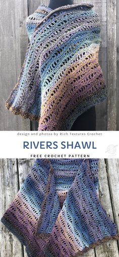 Rivers Shawl Free Crochet Pattern Always aspired to figure out how to knit, yet undecided the place to begin? This particular Complete Beginner Knitting S. Crochet Pattern Free, One Skein Crochet, Crochet Shawl Free, Crochet Gratis, Crochet Shawls And Wraps, Crochet Scarves, Easy Crochet, Crochet Triangle Pattern, Crochet Blogs