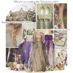 The middle dress Rapunzel Wedding Dress, Tangled Rapunzel, Wedding Dresses For Girls, Wedding Girl, Disney Princess Outfits, Disney Bound Outfits, Princess Dresses, Disney Princesses, Sheath Wedding Gown