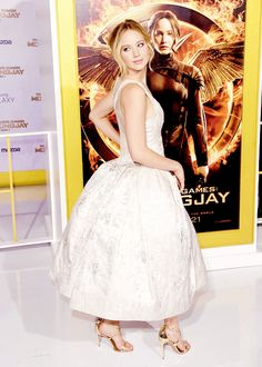 Jennifer Lawrence attends the premiere of Lionsgate's 'The Hunger Games: Mockingjay - Part 1' at Nokia Theatre L.A.