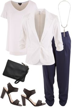 Outfit of the Day: Kickstart the work week in style! Add a blazer to your Best Seller pants and put your best foot forward in classic heels.