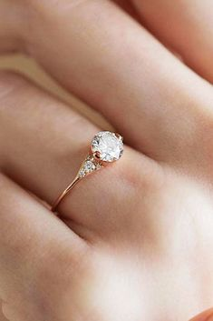 21 Rose Gold Solitaire Ring Ideas For Tender Girls ❤️ rose gold solitaire ring vintage round cut diamond ❤️ More on the blog: https://ohsoperfectproposal.com/rose-gold-solitaire-ring/