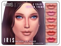 The Sims Resource: Iris – Natural Lip Colour • Sims 4 Downloads