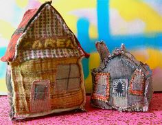 """Patchwork Houses. I saw a book with these called """"Houses, Houses, Houses"""" but don't remember author"""