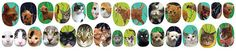 City Kitties Cat Nail Decal Set 5 Dollar by IHeartNailArt on Etsy, $9.00