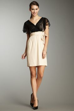 Catherine Malandrino - lace insert tie dress