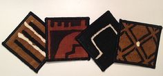 African Mudcloth Coasters by threadsofchange on Etsy, $24.00